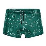 XCNGG Pizarra Verde Calzoncillos Tipo bóxer de Secado rápido para Hombres Traje de baño Pantalones Cortos Troncos Traje de baño-XX-Grande
