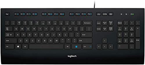 Logitech K280e Pro Kabelgebundene Business Tastatur für Windows, Linux und Chrome, USB-Anschluss, Handballenauflage, Spritzwassergeschützt, Nahezu Geräuschlos, PC/Laptop, Skandinavisches Layout