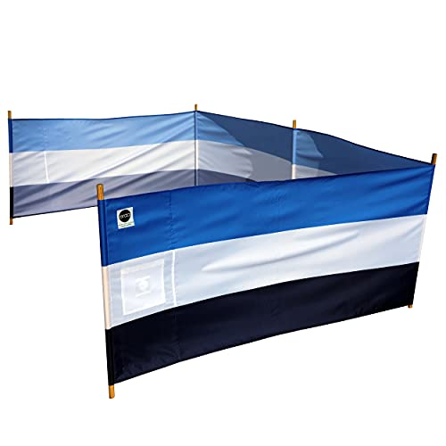erda Tides Stripe Pro Beach Recycled Polyester Rip-Stop 20 ft Lightweight Windscreen, Privacy Screen, Wind Blocker, Free Matching Shoulder Bag