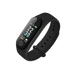 Zodiaque M3 Intelligence Bluetooth Health Wrist Heart Rate Sensor Smart Fitness Band Watch (Black)
