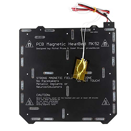 【𝐒𝐩𝐫𝐢𝐧𝐠 𝐒𝐚𝐥𝐞 𝐆𝐢𝐟𝐭】 Elastic Steel Plate, PEI Spring Steel Plate Reliable Magnetic Hot Bed Gold + Black Double-Sided Metal 3D Printer Accessories for Prusa i3 MK3S MK2.5