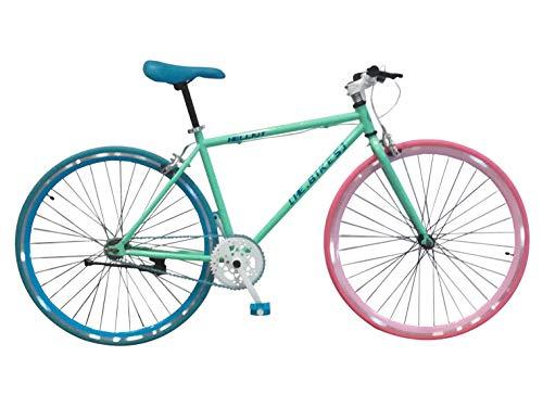 Helliot Bikes Soho 12 Fixie, Adultos Unisex, Verde, Talla única