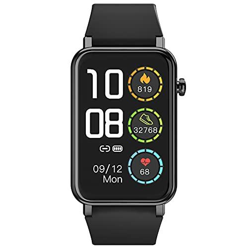 NAIXUES - Smartwatch con schermo touch completo da 1,57 , sportivo, impermeabile IP68, con sensore di frequenza cardiaca, SpO2, contapassi, gestione del sonno, meteo per Android iOS