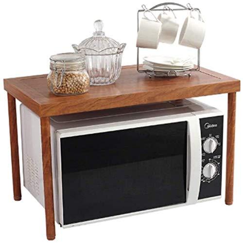 BECCYYLY Horno de microondas Microondas Horno Estante de Almacenamiento de 2 Niveles Estantería de Cocina Save Space Durable Simple Kitchen Baker Board Rejilla del Horno