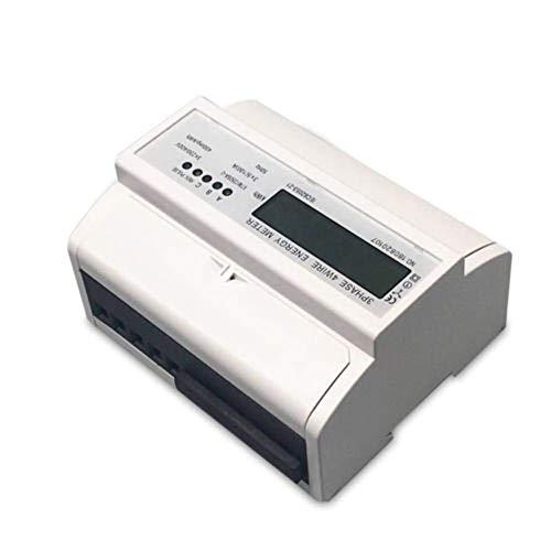 TABODD LCD 3-Phasen 4-Draht Messgerät LCD Drehstromzähler geeicht DIN Hutschiene 5(100)