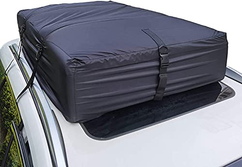 Rooftop Cargo Carrier (17 Cubic Feet), Roof Rack Cargo Carrier, Vehicle Cargo Carriers, Roof Cargo...