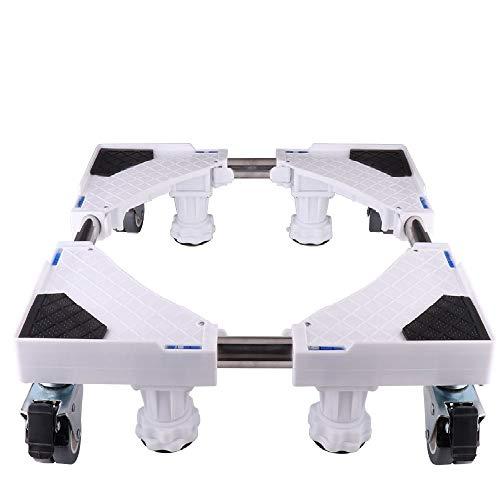 LUCKUP - Base móvil ajustable multifuncional con 4 ruedas giratorias de goma y 4 patas fuertes de tamaño ajustable universal para secadora, lavadora y refrigerador.
