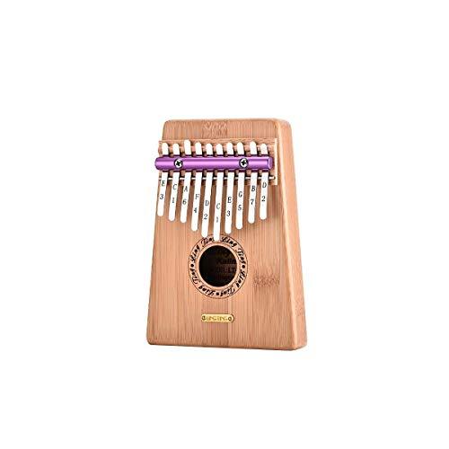 SuoSuo SFFSM Piano de Pulgar Kalimba de 10 Teclas, producción de sándalo Rojo/bambú de Oro Puro, Hermoso Tono, fácil de Llevar, fácil de Aprender, Color Madera, Sonido Original, lo último
