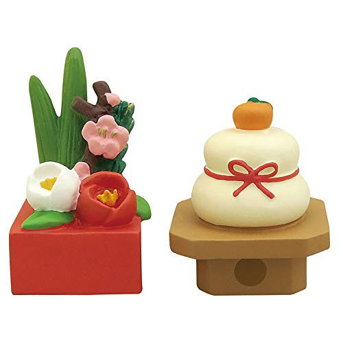 デコレ(DECOLE) お正月ミニ飾りセット グリーン・ホワイト 生け花:22×20×h37mm concombre ZSG-92258 2個入
