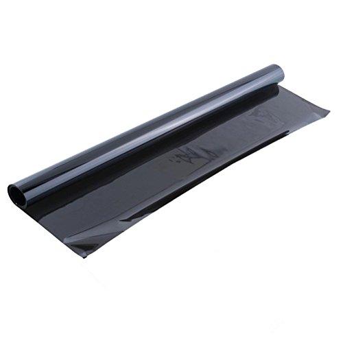 Winomo Autofensterfolie, verfärbungsfrei, für Fenster, Autofolie, beständig, 6 m x 50 cm (schwarz)