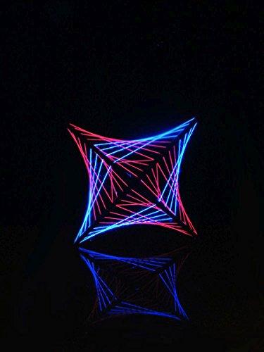 PSYWORK Schwarzlicht 2D StringArt Pink Shadow Small, 45cm