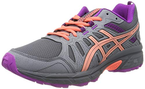 Asics Venture 7 GS, Zapatillas de Running Unisex Niños, Gris (Metropolis/Black 020), 40 EU
