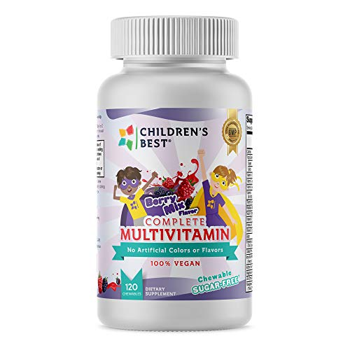 Children's Best Complete Sugar-Free Multivitamin for Kids: Biotin, Vitamin C, B12, D, A,...