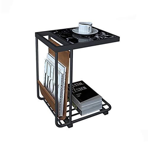 table basse nordique moderne simplicité canapé de chevet fashion marbre petite table d'appoint (Couleur : B, taille : 45cm*33cm*65cm)