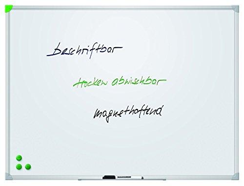 Franken SC924560 Schreibtafel (U-Act Line, magnethaftend, Alurahmen mit Ablageleiste, 60 x 45 cm, emailliert) weiß