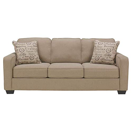 Signature Design by Ashley - Alenya Queen Size Sleeper Sofa w/ 2 Throw Pillows, Quartz