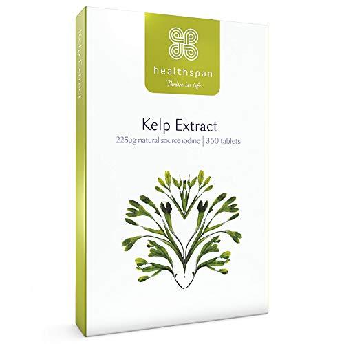 Kelp Extract   Healthspan   360 Tablets   Rich Source of Iodine   Fucus Vesiculosus Seaweed   Vegan