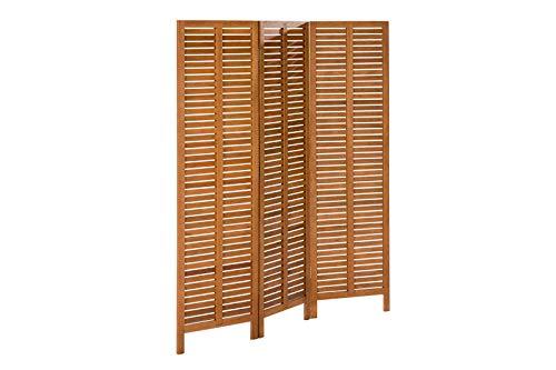 MERXX Paravent, braun, FSC Eukalyptusholz, 3 Segmente je 170x50 cm, verlängerbar