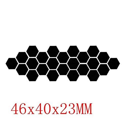 Coner zeshoekige acryl spiegel muurstickers kunst muurstickers woonkamer gespiegelde decoratieve stickers, zwart 46x40x23mm, 12st