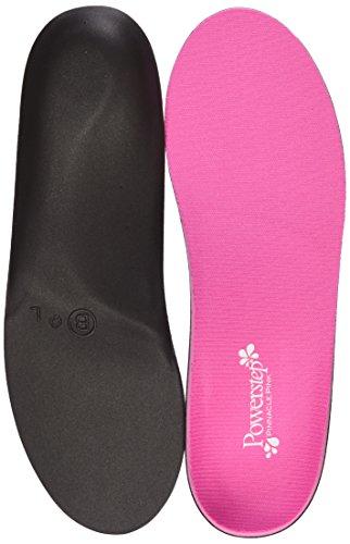 Powerstep Pinnacle Pink Full Length Orthotic Shoe Insoles - Maximum Cushioning, Full Support