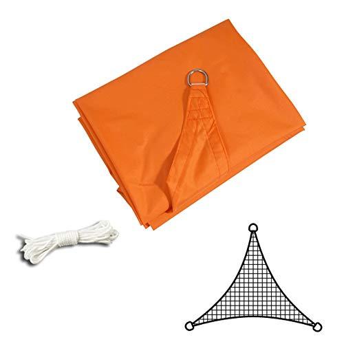 CYOUL-LI Cortina de la Vela de Tela Sombra sombreado Neto, Triángulo Exterior Toldo Anti-UV HDPE D Ring, Color múltiple (Color : Orange, Size : 3×3×3M)