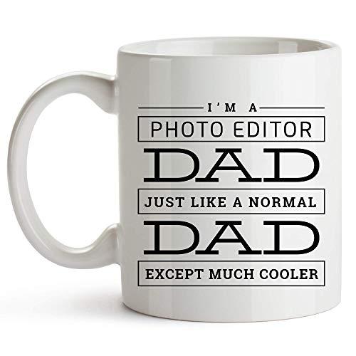 Overlooked Shop Bildbearbeiter Papa Becher, 11 Unzen, lustige Bildbearbeiter Papa Kaffeetasse