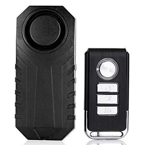 Haokaini Drahtloser Fahrrad-Alarm, Anti-Diebstahl, Vibration, Sicherheitsalarm, Fernbedienung, wasserdicht, 113 dB, Fernbedienung