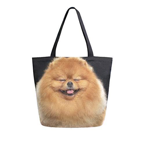 ZZKKO Pomeranian Spitz Bolso de lona para perro, para llevar al hombro,...