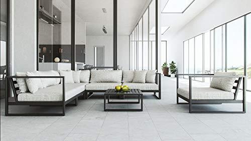 ARTELIA Matteo L Loungemöbel Set - großes Gartenmöbel Set für Terrasse, Garten und Wintergarten, Terrassenmöbel schwarz
