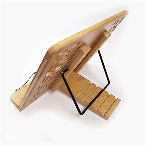 DISS Bamboo COMPUTADORA DE COMPUTADORA DE ENFRIAMIENTO Soporte DE ENFRENAMIENTO Soporte DE Propietario Tableta de la Tableta Tableta de elevación Soporte de Libro de 5 Grados Ajustable