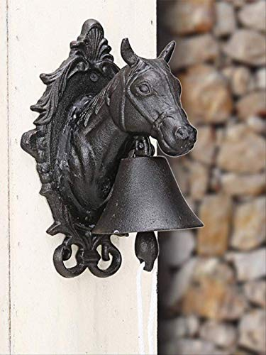 BDWS Dreamcatcher American Country Retro Welkom Paard Hoofd Bell Vintage Gietijzeren Wind Chime Europese Tuin Deurbel Bar Koffie Shop Decoratie