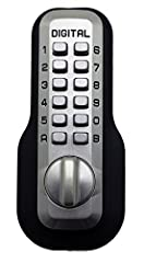 Secure your home without having to remember the keys with this mechanical keyless deadbolt Maximum security mechanical combination deadbolt Thumb-turn for entry and exit Installs in minutes with EZ mounting plates with no drilling required Dimensions...