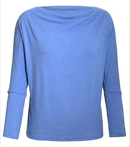 Womens Solid lange vleermuis mouw casual trui top blouse T-shirts