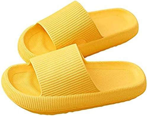 Pillow Slippers, Massage Foam, Super Soft Bath Slippers, Thick Sole, Non-slip, Quick Dry, Latest Technology, Women Men Beach Shoes