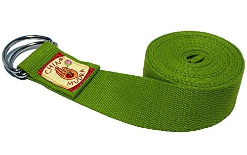 Chin Mudra Cinghia da yoga, 100% cotone bio, fibbia a mezzaluna, Sangle Chin Mudra 100% Coton Bio Boucle 1/2 lune - Vert