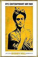 ポスター ボビー ヒル Kahlo 額装品 アルミ製ベーシックフレーム(ゴールド)