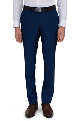 Moss London Men's Skinny Fit Peacock Suit Pants 38L Blue