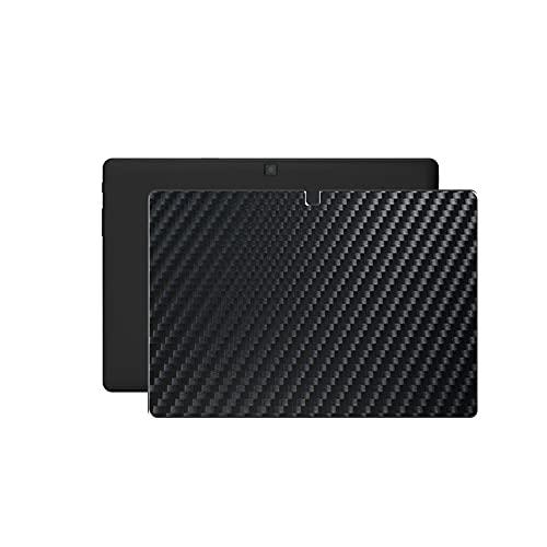VacFun 2 Piezas Protector de pantalla Posterior, compatible con BQ Aquaris M10 10.1', Película de Trasera de Fibra de carbono negra Skin Piel