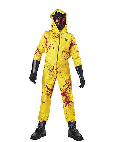 Seasons Zombie Hazmat Costume (XL(14-16)) Yellow