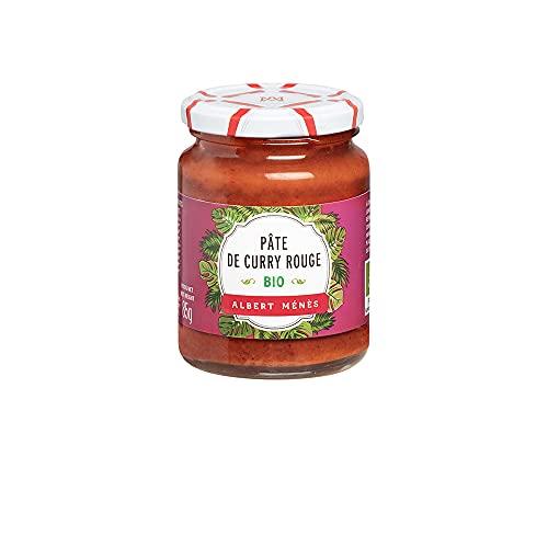 Albert Ménès Bio Pâte de Curry Rouge Savoir-Faire Artisanal/Français, 85 g, 1 Unité