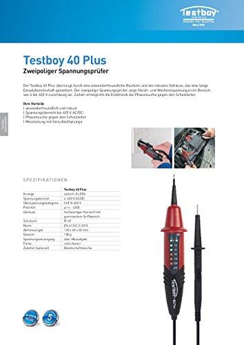 Testboy Testboy 40 Plus Spannungstester Testboy 40N, 6-400V, 8LED Anzeige - 4