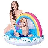 Green & Rare - Piscina hinchable de verano, para niños, bañera inflada, color arcoíris y jardín al aire libre, actividades familiares