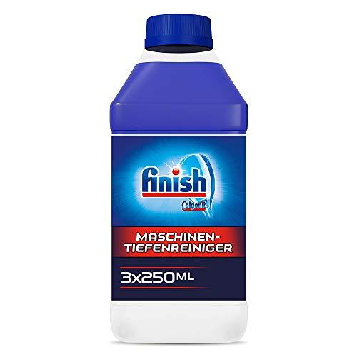Finish Maschinentiefenreiniger – Flüssiger Maschinenreiniger gegen Kalk und Fett für eine saubere Spülmaschine – Sparpack Maschinenpfleger, 3er Pack (3 x 250 ml)