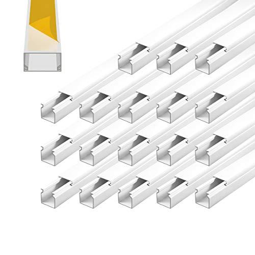 Kabelkanal selbstklebend 16 x 16 mm Installationskanal 18 m PVC Wand Decken Montage allzweck aller Art Kabel innen aussen Büro TV Lautsprecher Telefon Sat Netzwerk Kabel ARLI
