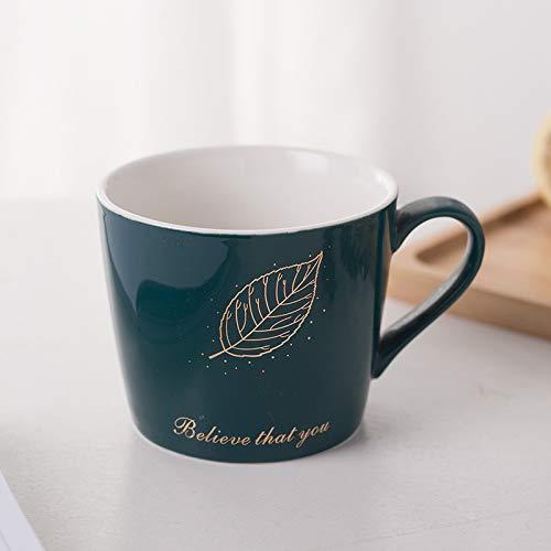 Xiaobing Taza Creativa para el hogar de Pareja Dulce Taza de café con Leche Simple Taza de Agua Taza de cerámica -B17-301-400ml-G271