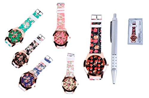 DISOK - Reloj Floral En Caja De Regalo (Precio unitario) - Detalles Originales Relojes para Regalos de Bodas Bodas, en Estuches de Regalos Florales étnicos Originales. Comuniones y Cumpleaños