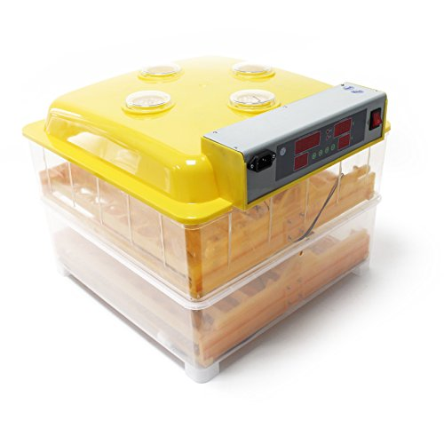 WilTec Incubadora automática Capacidad para 96 Huevos de gallina, Aves de Corral, Pato, codorniz, Reptil