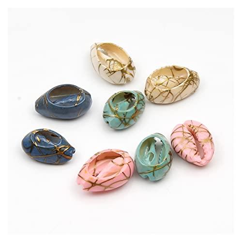 DYKJK Fabricación de Joyas 50 unids/Lot Multicolor Natural Shell Beads Sleed Spacers 10-20mm Ovaled con Cuentas para joyería DIY Charm Collar Pulsera Accesorio para Pulseras de Bricolaje joyería