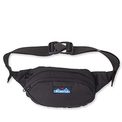 KAVU Spectator Belt Bag Polyester Hip Fanny Pack-Jet Black