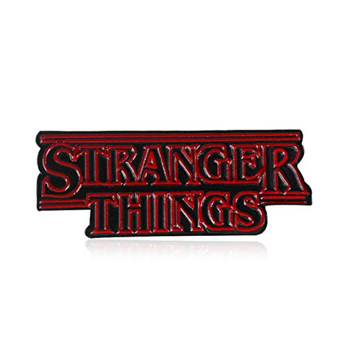 ZHAQU  Stranger Thing Badge Rectangular Brooch Trump 2020'I Believe Slogan Enamel Material Pins Collar Decoration Gifts material